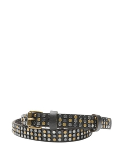 Beck Sondergaard - Leather Skinny Multi-Stud Belt
