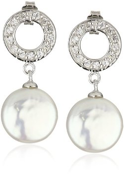 Bella Pearl  - Coin Pearl Earrings