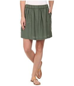 Lacoste - Waistband Linen A-Line Skirt