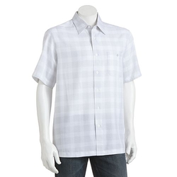 Haggar -  Plaid Point-Collar Button-Down Shirt