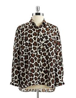 Michael Kors - Plus Plus Animal Print Blouse