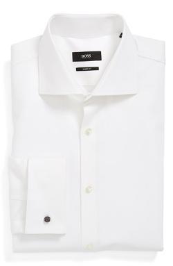 Boss Hugo Boss  - Sharp Fit French Cuff Dress Shirt