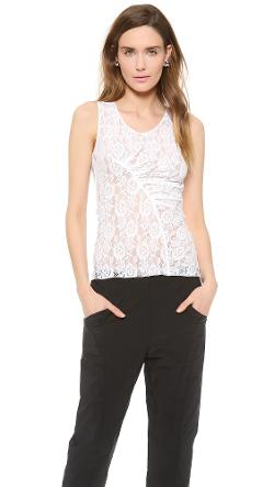 Nina Ricci  - Sleeveless Lace Top