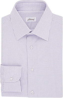 Brioni  - Grid-Checked Twill Shirt