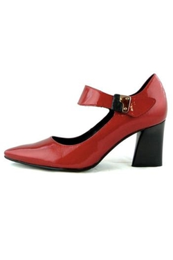France Mode - Red Leather Pumps
