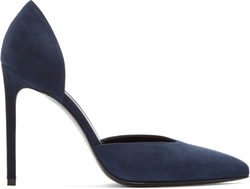Saint Laurent - Navy Suede Paris D