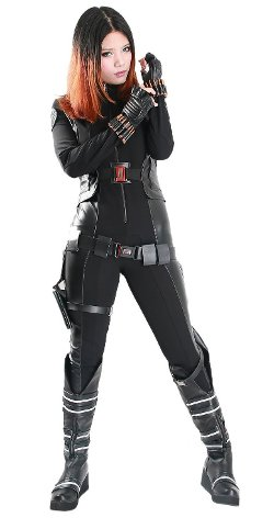X Costume - New America Black Widow Cosplay Costume