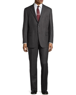 Hickey Freeman  - Stripe Worsted Wool Suit