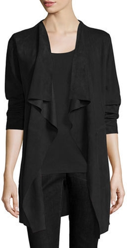 Eileen Fisher - Fisher Project Draped Suede Jacket