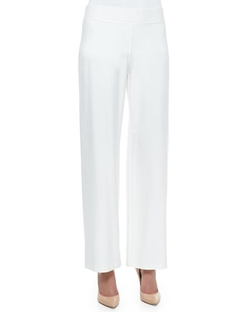 Eileen Fisher - Modern Wide-Leg Stretch-Crepe Pants