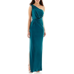 Simply Liliana - One-Shoulder Side-Slit Gown