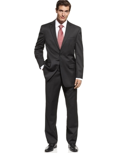 Michael Kors - Classic-Fit Black Solid Suit