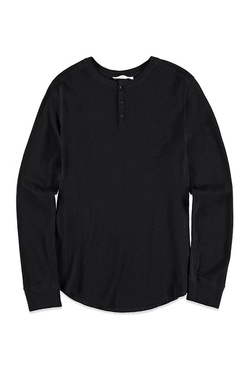 21 Men - Paneled Thermal Henley