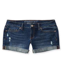 Aéropostale - Destroyed Denim Midi Shorts