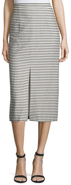 Alice + Olivia - Sabrena Striped Midi Skirt