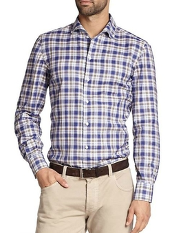 Isaia  - Cotton Plaid Sportshirt