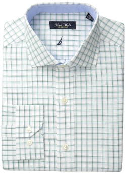Nautica - Green White Check Dress Shirt