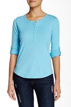 Alternative - Rolled-Sleeve Henley Top