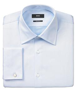 Hugo Boss  - Solid French Cuff Shirt