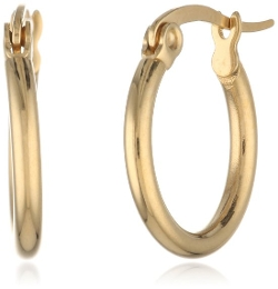 Amazon Curated Collection - Gold-Plated Small Round Hoop Earrings