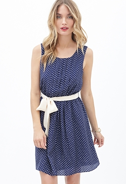 Forever 21 - Pleated Polka Dot Dress