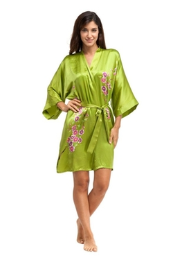 Costume Deals - Silk Hand-Painted Short Kimono Robe