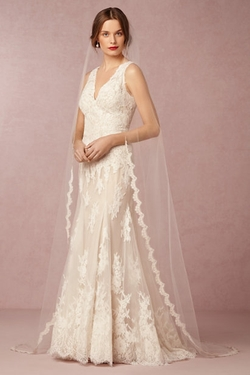 BHLDN - Scalloped Cathedral Veil
