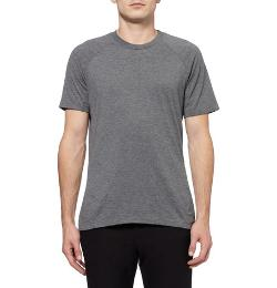 AETHER   - PIECED ZIP-POCKET JERSEY T-SHIRT