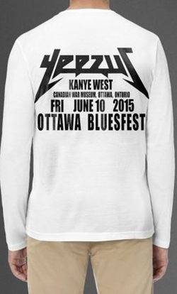 Kanye West  - Yeezus Ottawa Bluesfest Long Sleeve T-Shirt