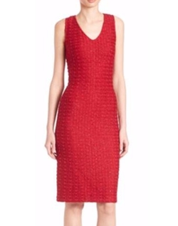 St. John  - Textured Sequin Knit Dress