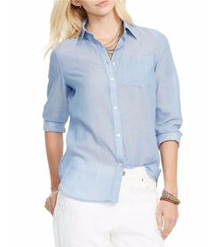 Lauren Ralph Lauren - Susan Cotton Pocket Shirt