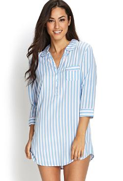 Forever21 - Striped Boyfriend Sleep Shirt
