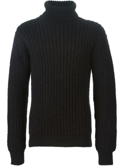 Les Hommes - Chunky Knit Turtle Neck Sweater