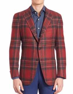 Isaia - Wool Plaid Sportcoat