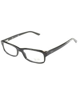 Ray Ban - Shiny Black Rectangle Eyeglasses