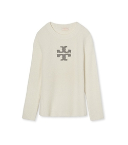 Tory Burch - Lurex Logo Sweater
