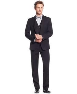 Calvin Klein - Herringbone Peak Lapel Suit