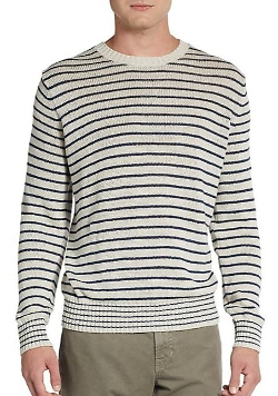 Vince  - Striped Linen Sweater
