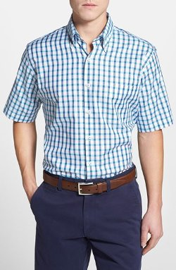 Peter Millar  - Queens Regular Fit Tattersall Oxford Shirt