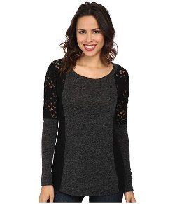Mod-O-Doc - Lace Sweater Seamed Shirt