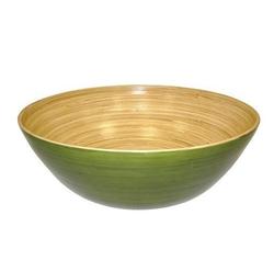 Simply Bamboo  - Glossy Celadon Green Bamboo Bowl