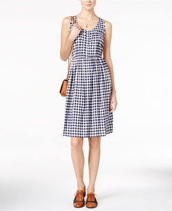 Maison Jules  - Sleeveless Gingham Dress