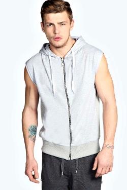 Boohoo - Lightweight Zip Hooded Waistcoat