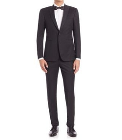 Z Zegna - One-Button Wool Tuxedo Suit