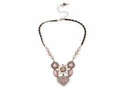 Betsey Johnson - Crystal Cluster Frontal Necklace