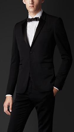 Burberry - Satin Lapel Tuxedo Jacket