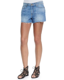 Paige Denim - Callie Distressed Denim Shorts
