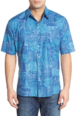 Tori Richard  - Geo Print Short Sleeve Sport Shirt