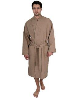 Towel Selections - Waffle Bathrobe Turkish Cotton Kimono Robe