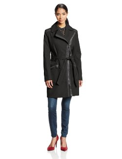 Via Spiga - Asymmetrical-Zip Belted Trench Coat